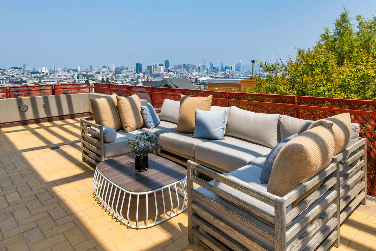 Atop San Francisco's Liberty Hill, the architectural masterpiece at 615 Sanchez St. offers 180-degree views of the city and beyond.