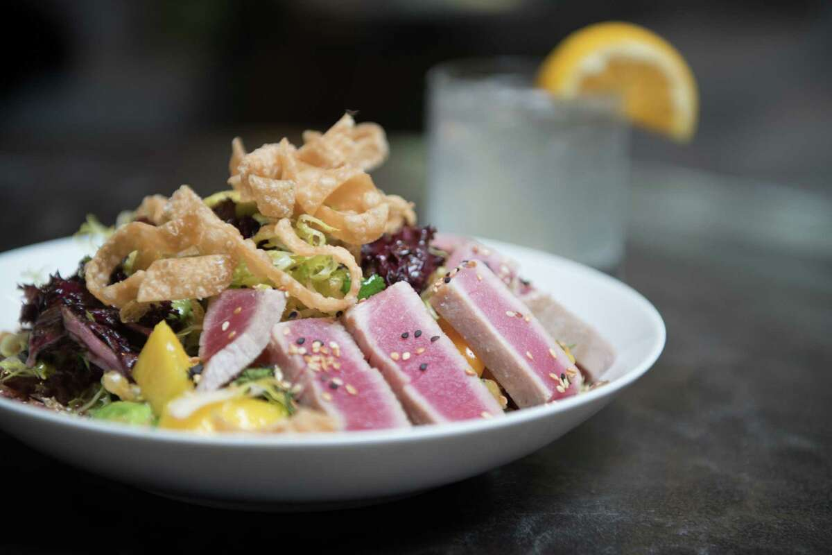 The restaurant menus at all Hotel ZaZa location in Texas, including the newest at Memorial City, have been given a makeover. Shown: Seared tuna salad.