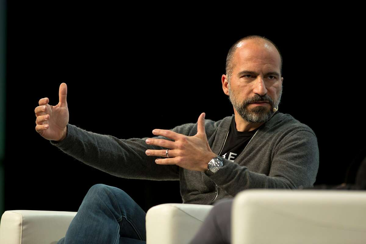 Dara Khosrowshahi, new CEO of Uber, speaking during Tech Crunch Disrupt 2018, Thursday 06 September 2018 in San Francisco, CA.