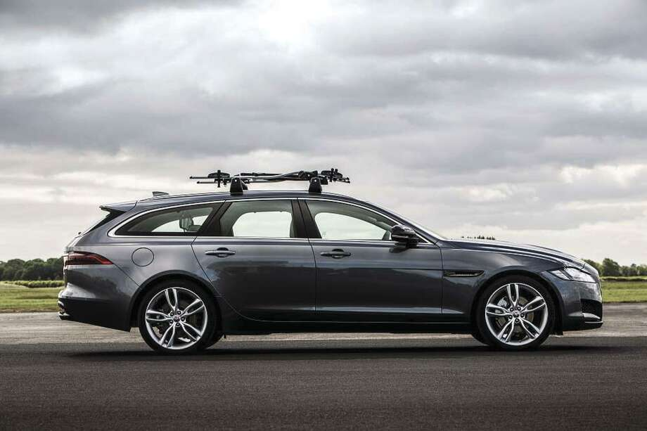 Jaguar's luxury wagon has a 116.5-in. wheelbase and a near 50/50 front/rear weight balance. The 380-horsepower station wagon is even rated to tow up to 4,409 lbs. (Jaguar photo)