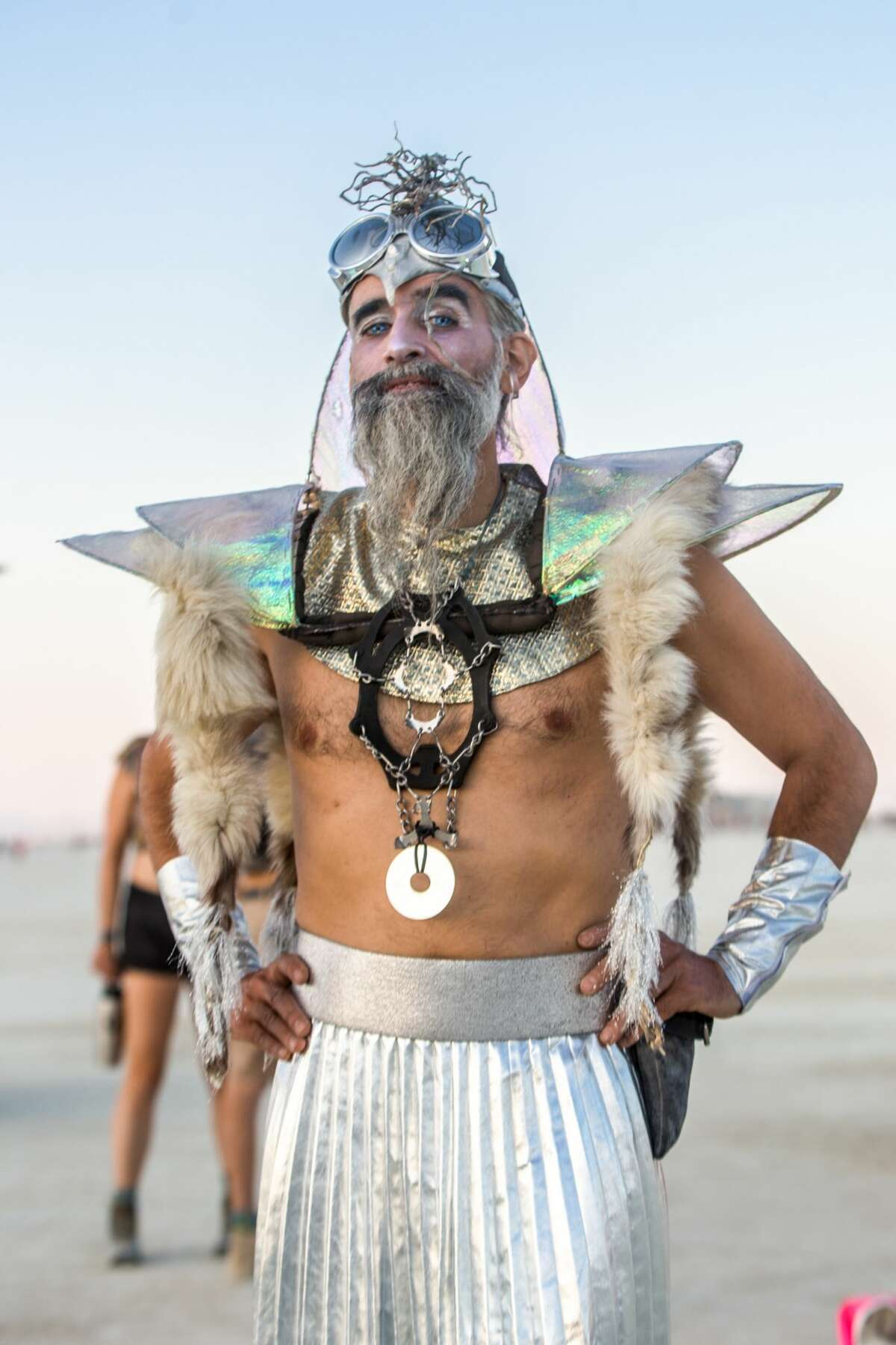 Participants at Burning Man 2018 show off their Black Rock City style.