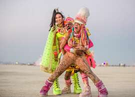 Participants at Burning Man 2018.