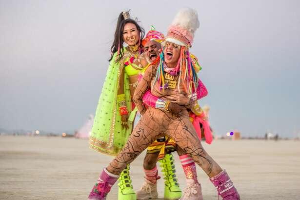 Participants at Burning Man 2018.