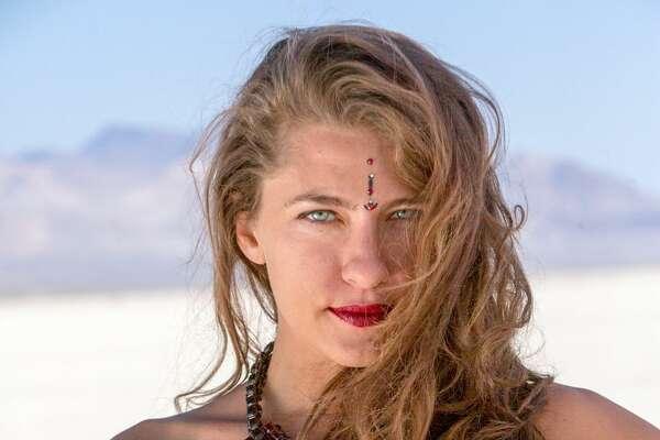 A participant at Burning Man 2018.