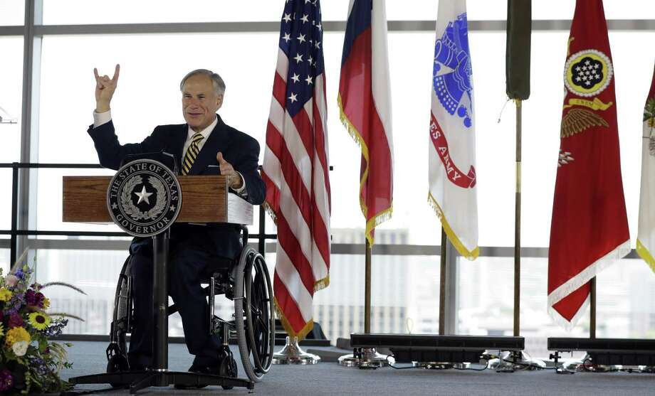 A reader has issues with a commentary by Gov. Greg Abbott on school funding. Here, the governor attends an activation ceremony for the U.S. Army Futures Command in Austin. Photo: Eric Gay / Associated Press / Copyright 2018 The Associated Press. All rights reserved.