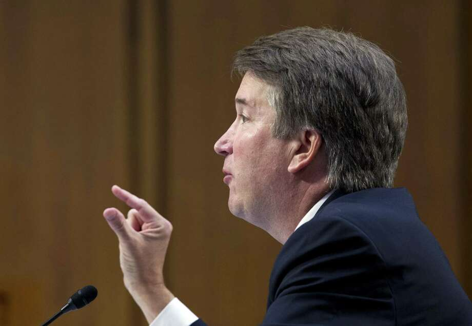 Supreme Court nominee Brett Kavanaugh testifies before the Senate Judiciary Committee on Capitol Hill Thursday, the third day of his confirmation hearing. Photo: Jose Luis Magana / Associated Press / Copyright 2018 The Associated Press. All rights reserved