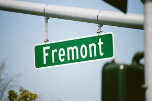 Close-up of road sign for Fremont in the Silicon Valley, Fremont, California, August 17, 2017. (Photo by Smith Collection/Gado/Getty Images)