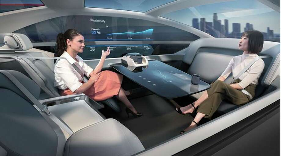 Volvo's 360C concept car could be a mobile office – no driver needed. (Image: Volvo) Photo: Volvo