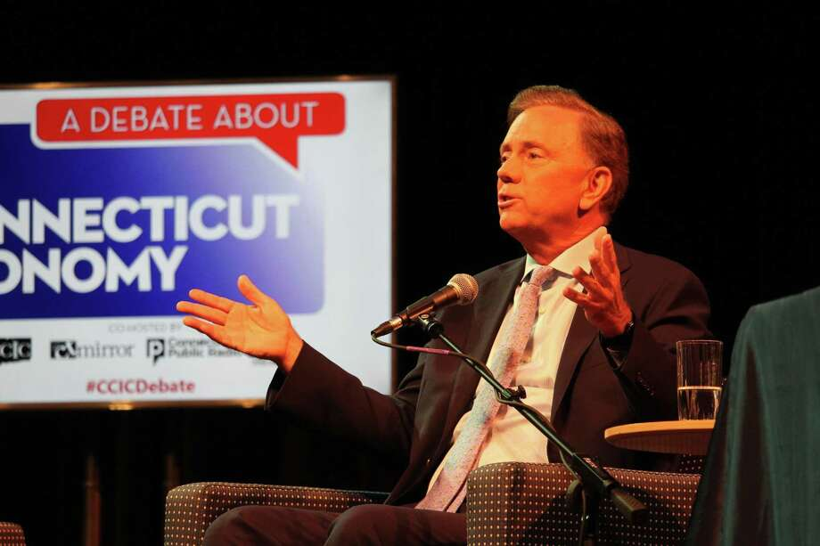 Democratic candidate for governor Ned Lamont at a debate on Sept. 5, 2018. Photo: Dan Haar