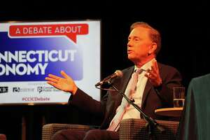 Democratic candidate for governor Ned Lamont at a debate on Sept. 5, 2018.