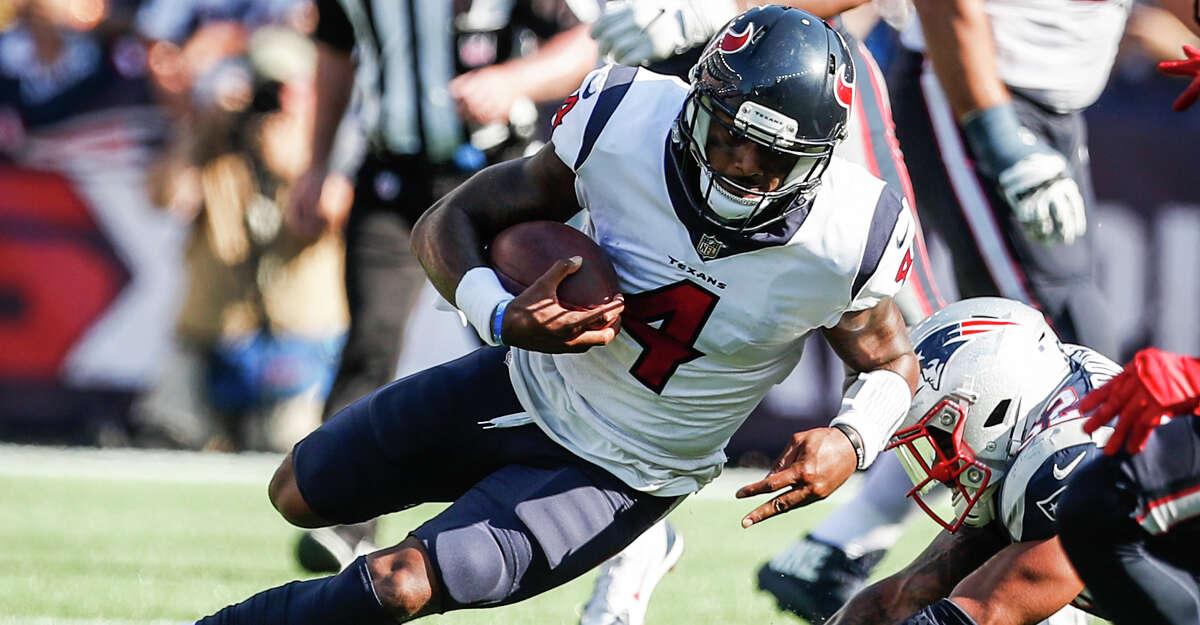 Texans plus-6 ½ at New England Patriots 30-27