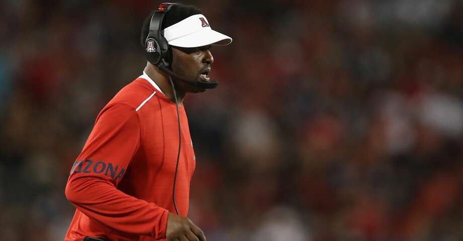 TUCSON, AZ - SEPTEMBER 01:  Head coach Kevin Sumlin of the Arizona Wildcats watches from the sidelines during the second half of the college football game against the Brigham Young Cougars at Arizona Stadium on September 1, 2018 in Tucson, Arizona.  (Photo by Christian Petersen/Getty Images) Photo: Christian Petersen/Getty Images
