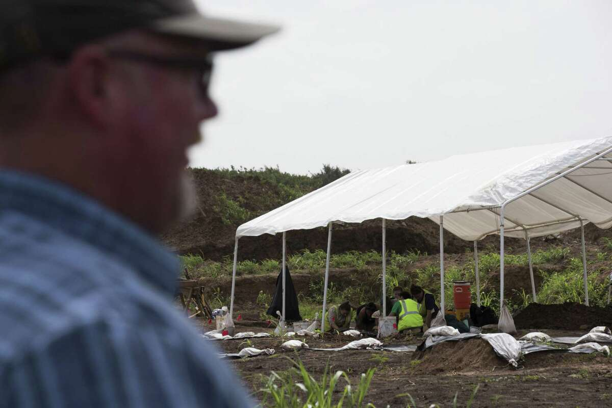 A historic cemetery was discovered earlier this year at the construction site of the James Reese Career and Technicial Center in Sugar Land. (Marie D. De Jesús / Houston Chronicle )