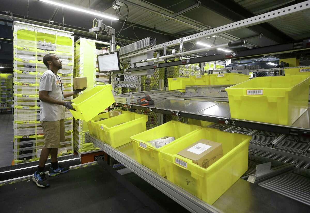 SEPTEMBER 2018 Amazon The online retailer's fulfillment center in Houston opened in July 2017 but wasn't fully ready to show off until more than a year later because of Hurricane Harvey's floods.