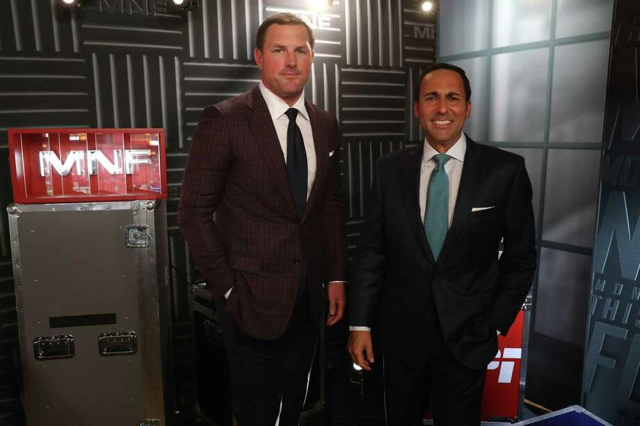 Landover, MD - August 16, 2018 - FedEx Field: Jason Witten and Joe Tessitore in the booth during a regular preseason Monday Night Football game (Photo by Allen Kee / ESPN Images) Photo: Allen Kee / ESPN Images / 2018, ESPN Inc.