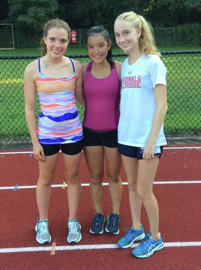 From left to right, Caroline Webb, Verna Yin and Lauren O'Donnell are senior captains for Greenwich High. Photo: Contributed Photo / Contributed Photo / Greenwich Time Contributed