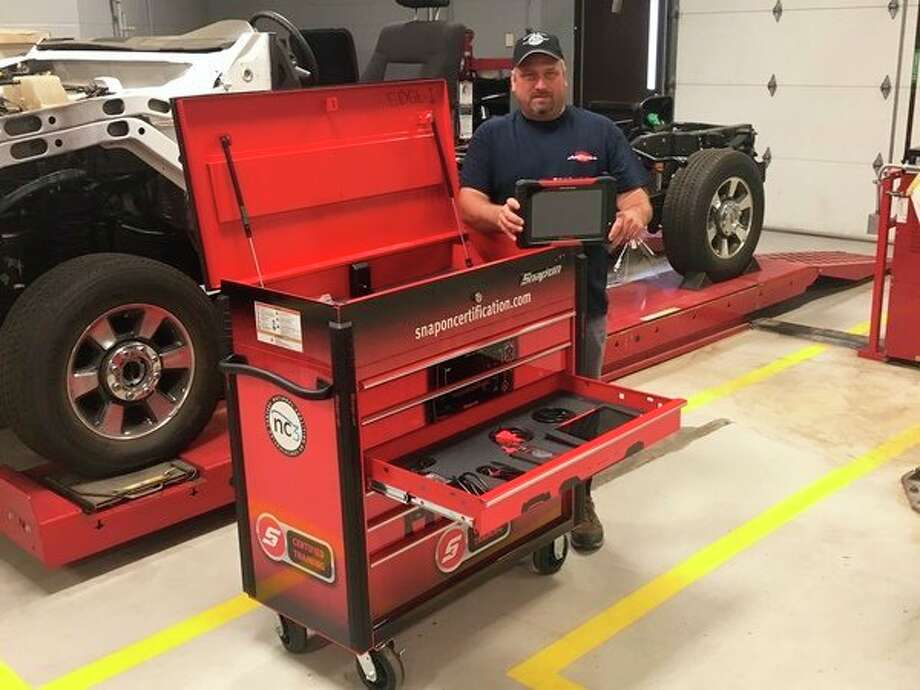 To support its expanded offerings, Mid Michigan College purchased three industrial Snap-On tool carts containing all equipment necessary for each industry certification. (Photo provided)