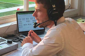 Radio announcer and Edwardsville High School (EHS) alumnus Colin Suhre provides play-by-play for the EHS Tigers. EHS games are being broadcast on SIUE's 88.7 WSIE FM The Sound.