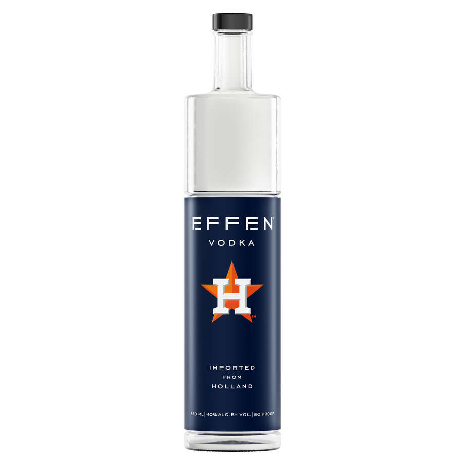 PHOTOS: Texas-born boozeEffen Vodka has released a 2018 limited-edition Houston Astros bottle sleeve that celebrates the 2017 World Series champs.
