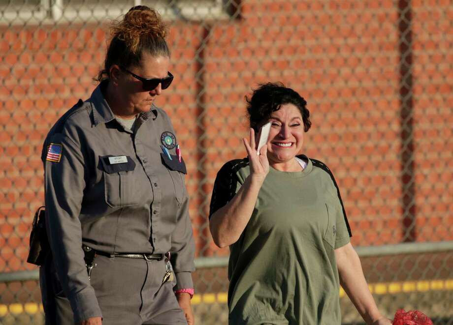 GATESVILLE, Tx. - Frances Hall, the San Antonio wife who was convicted of killing her husband during a highway chase with him and his lover, is a free woman after her release from prison Friday. Photo: Andrew B Church, Photo By Andrew B Church / Andrew B Church