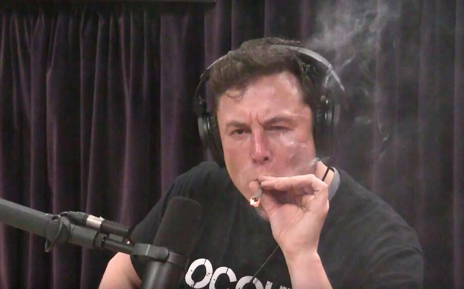 At least Musk didn't try to deny that he inhaled. Photo: YouTube