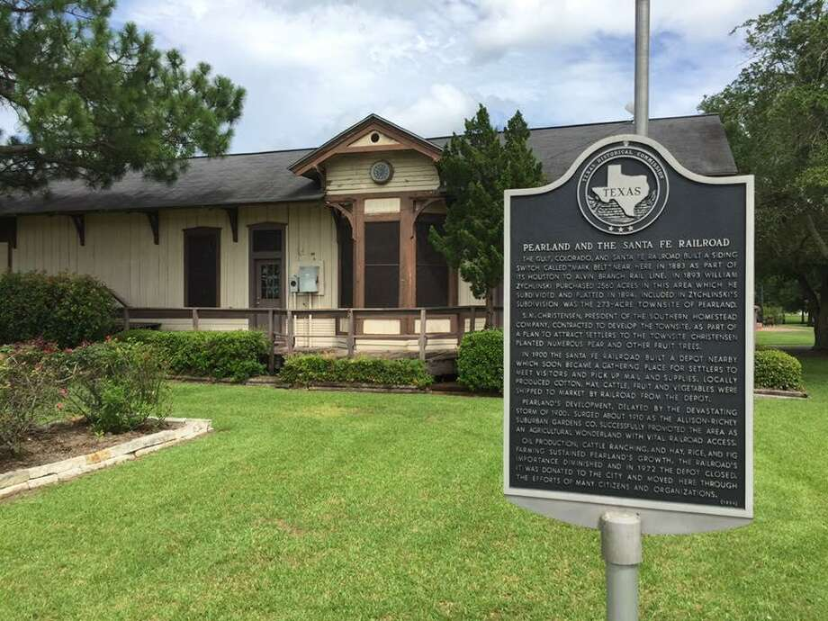 The Sante Fe Railroad Depot is proposed for renovations in which it would house a museum and space for events. Photo: Donald Hayes, Pearland Historical Society / Donald Hayes, Pearland Historical Society