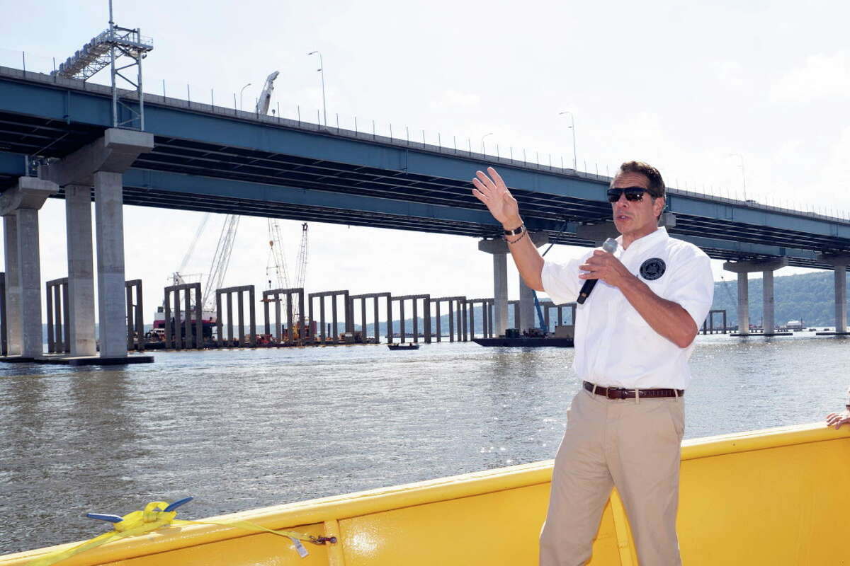 Gov. Andrew Cuomo tours the Governor Mario M. Cuomo Bridge on Tuesday, Sept. 4, 2018, in Tarrytown, N.Y. (Mike Groll/Office of the Governor)