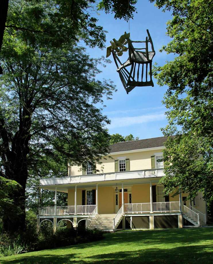 "In a handout photo, Kiki Smithís ""Homecoming,"" a sculpture from 2012, hangs in front of the Thomas Cole National Historic Site in Catskill, N.Y., as part of her exhibition here. The summer of 2017 brought a bounty of contemporary art to the Hudson Valley, including this national historic site, which is the 1815 residence of Cole, founder of the Hudson River School. (Thomas Cole National Historic Site via The New York Times) -- NO SALES; FOR EDITORIAL USE ONLY WITH NY RURAL EXHIBITIONS BY NANCY PRINCENTHAL FOR AUG. 25, 2017. ALL OTHER USE PROHIBITED. -- ORG XMIT: XNYT122 Photo: THOMAS COLE NATIONAL HISTORIC SI / THOMAS COLE NATIONAL HISTORIC SI"