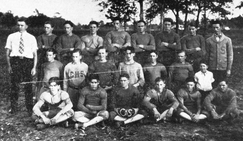 The Conroe Tigers football team from the 1927-28 season. Photo: Photo From The CHS Yearbook The Bluebell