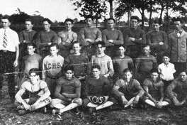 The Conroe Tigers football team from the 1927-28 season.