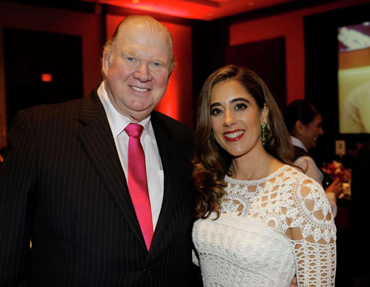 Paul Somerville and Kristina Somerville are shown during the Big Brothers Big Sisters gala held at the Royal Sonesta Hotel, 2222 West Loop S, Thursday, Sept. 6, 2018, in Houston.