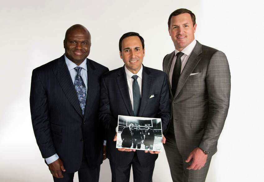 New York, NY - May 15, 2018 - ABC Studios: Portrait of Booger McFarland (l), Joe Tessitore and Jason Witten (Photo by Joe Faraoni / ESPN Images)