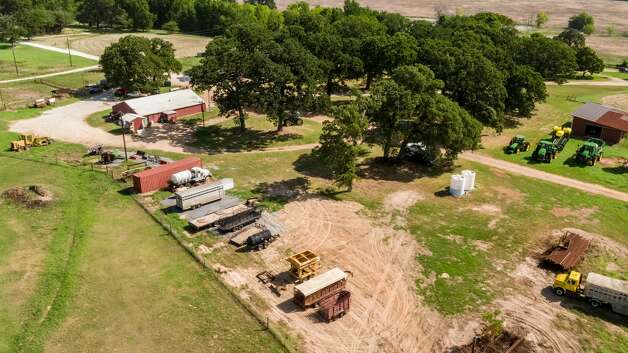 The KB Carter Ranch in Oakwood is on sale for $51 million. The property includes a private airstrip, oil and gas rights, a family retreat, and roughly 14 miles of Trinity River frontage. Photo: Icon Global