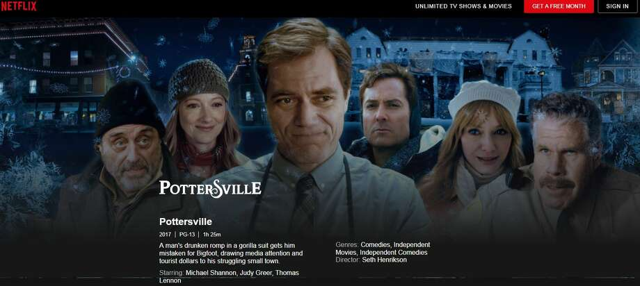 "Netflix is carrying the ""Pottersville"" movie that was shot in Hamilton in Madison County in 2016 and was financed in part by SUNY Polytechnic Institute. Photo: Netflix"