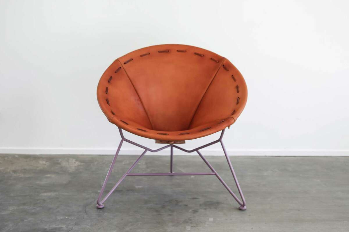 Saddle Leather Round Chair by Garza Marfa, $1,400