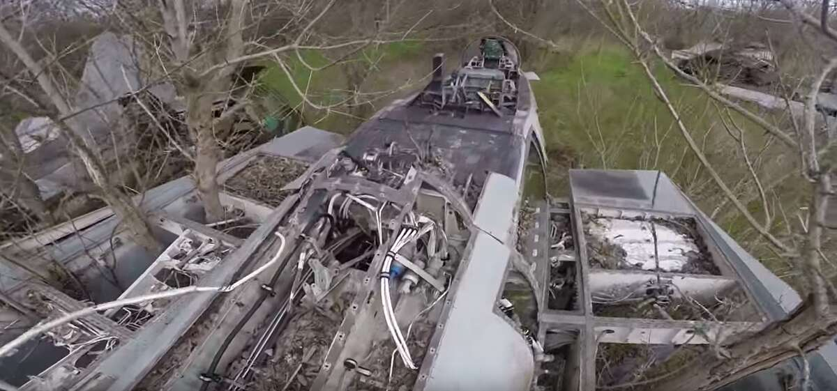 In late 2016, two aviation experts and a railroad worker came upon the remains of two fighter jets that were once heralded as premier aircraft for the U.S. Navy - The Grumman F-14 Tomcat and the McDonnell Douglas Phantom II. They were uncovered in a wooded area in Temple, and Dallas resident Erik Johnston took a video of the moment.