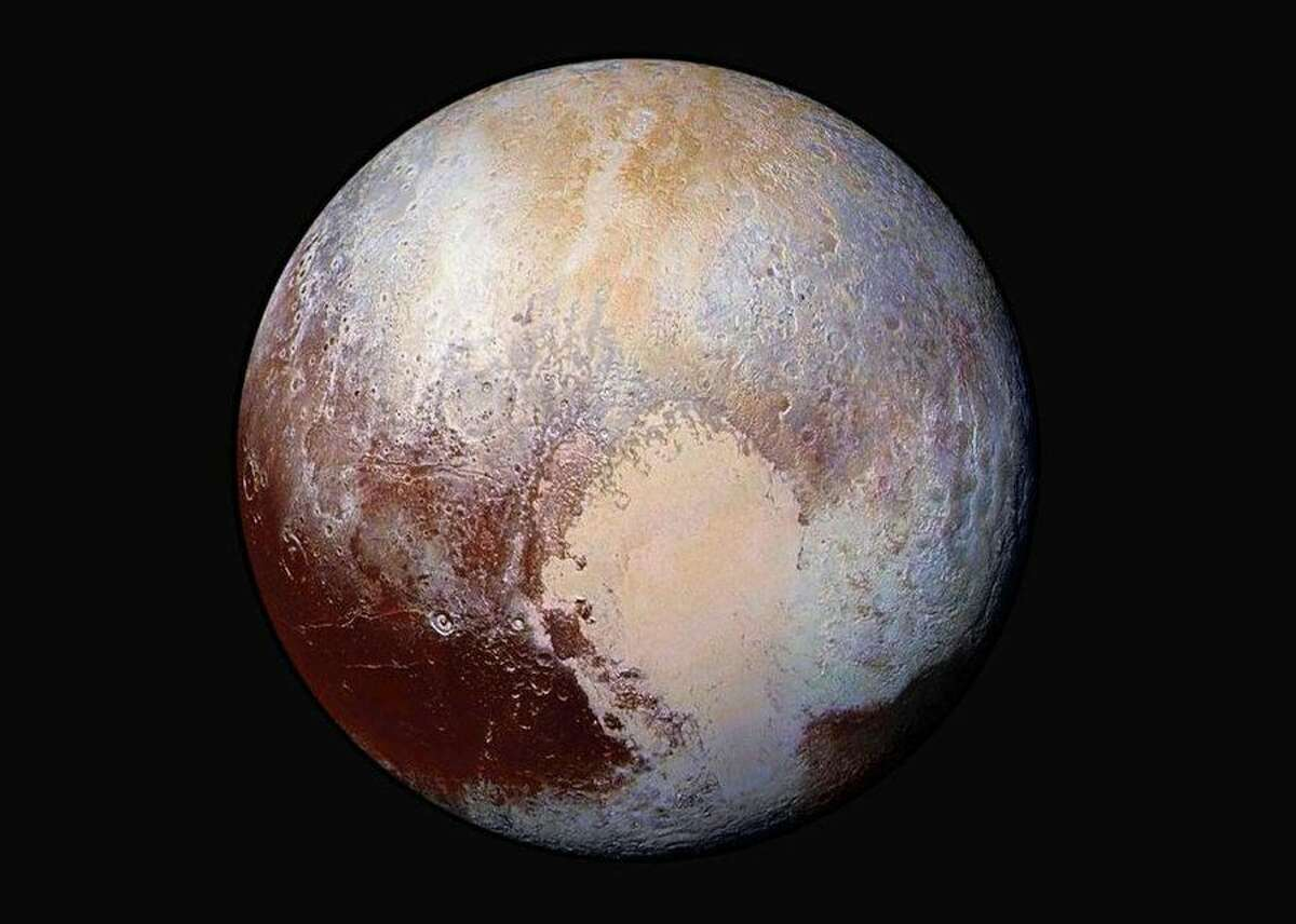 NASA spots odd heart-shaped objects on Mars and beyond NASA loves space and sometimes space seems to love it right back. The agency's spacecraft and explorers have seen all sorts of hearts in surprising places, from the surface of Mars to a wide swathe of dwarf-planet Pluto.NASA's New Horizons spacecraft visited Pluto in 2015. This enhanced-color view shows off Pluto's distinctive heart, a bright surface feature that stands out from its darker surroundings.