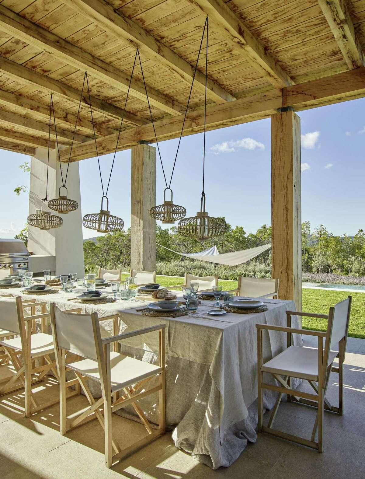 Dining al fresco is easy on the Mediterranean island of Ibiza.