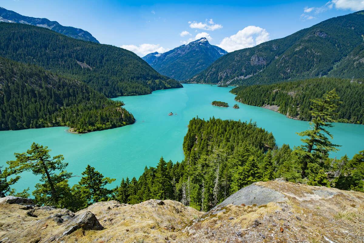 Diablo Lake in North Cascades National Park complex.