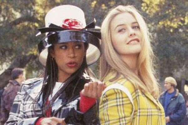 "Inspirational Alicia Silverstone and Stacey Dash as Cher and Dionne in ""Clueless."""