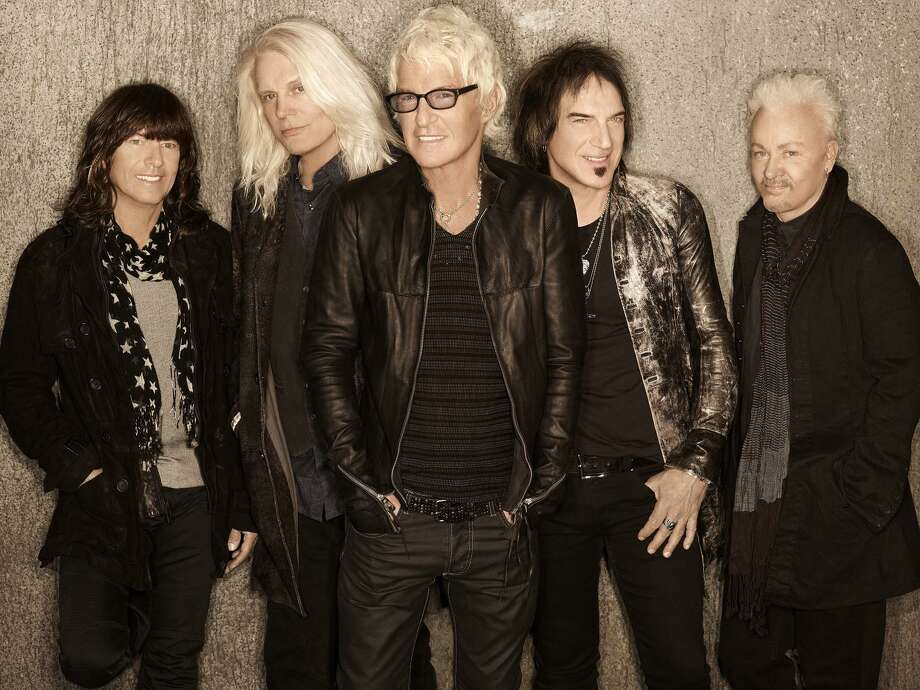 REO Speedwagon, Bryan Hitt, left, Bruce Hall, Kevin Cronin, Dave Amato and Neal Doughty, will perform at The Warner Theatre in Torrington on Sept. 20. Photo: Randee St. Nicholas / Contributed Photo