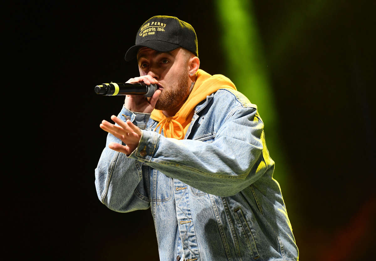 LONG BEACH, CA - APRIL 29: Rapper Mac Miller performs onstage during the Smokers Club Festival at The Queen Mary on April 29, 2018 in Long Beach, California.