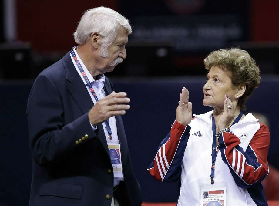 A report commissioned by the U.S. Olympic Committee into the USA Gymnastics sexual abuse scandal was strongly critical of the culture created by longtime coaches Bela (left) and Martha Karolyi Photo: Gregory Bull, STF / Associated Press / Copyright 2016 The Associated Press. All rights reserved.