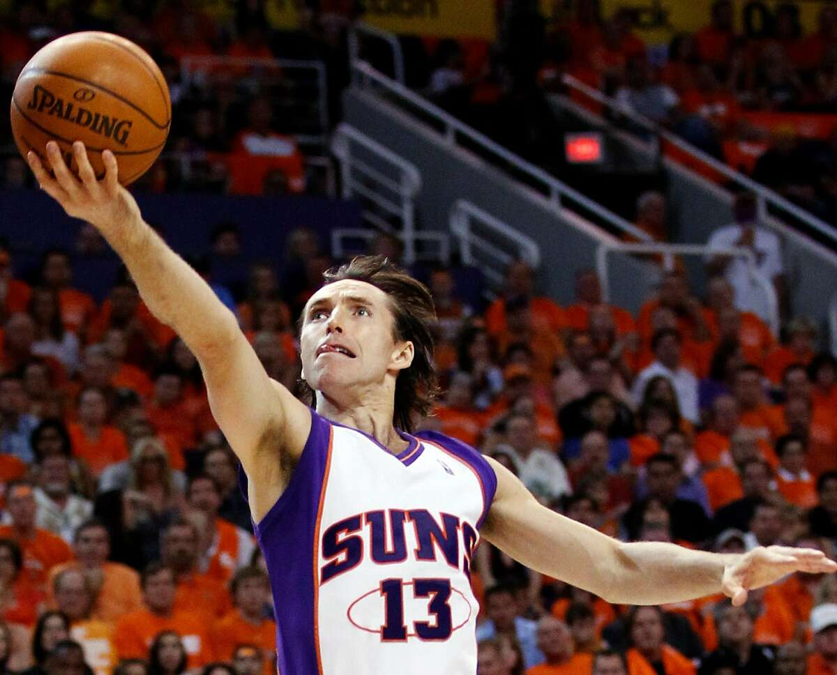 Phoenix Suns guard Steve Nash shoots against the Los Angeles Lakers during the first half of Game 6 of the NBA basketball Western Conference finals Saturday, May 29, 2010, in Phoenix. Nash has signed a contract to become the head coach of the Brooklyn Nets.