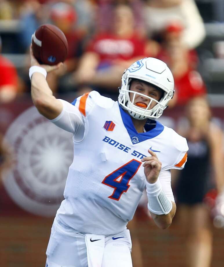 Boise State quarterback Brett Rypien will pose a challenge for the UConn defense Saturday. Photo: Butch Dill / Associated Press / Associated Press