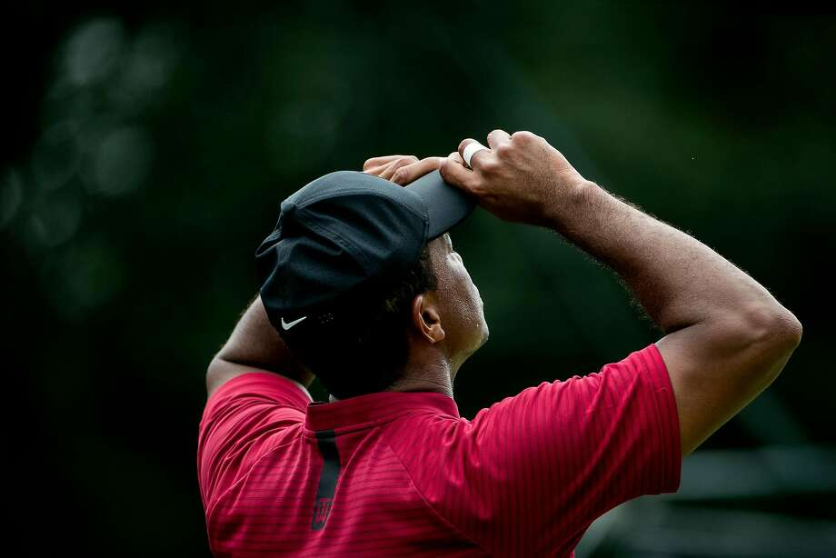 Tiger Woods during the Northern Trust PGA tournament in Paramus, N.J., on Aug. 26, 2018. Woods, a longtime Nike endorser, is praising the Nike ad campaign featuring former 49ers quarterback Colin Kaepernick. Photo: Sam Hodgson / New York Times