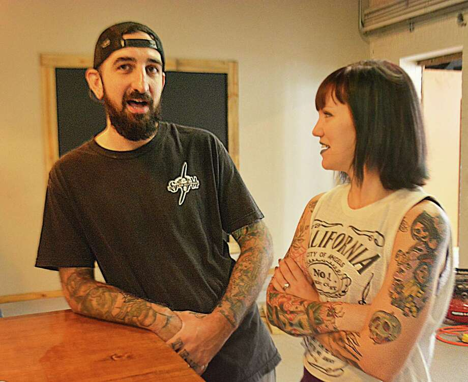Husband and wife Joey and Johanna Perazella of Middletown will be launching Perkatory Coffee Roasters in the old trolley building at 725 Main Street Unit 23. Photo: Cassandra Day / Hearst Connecticut Media