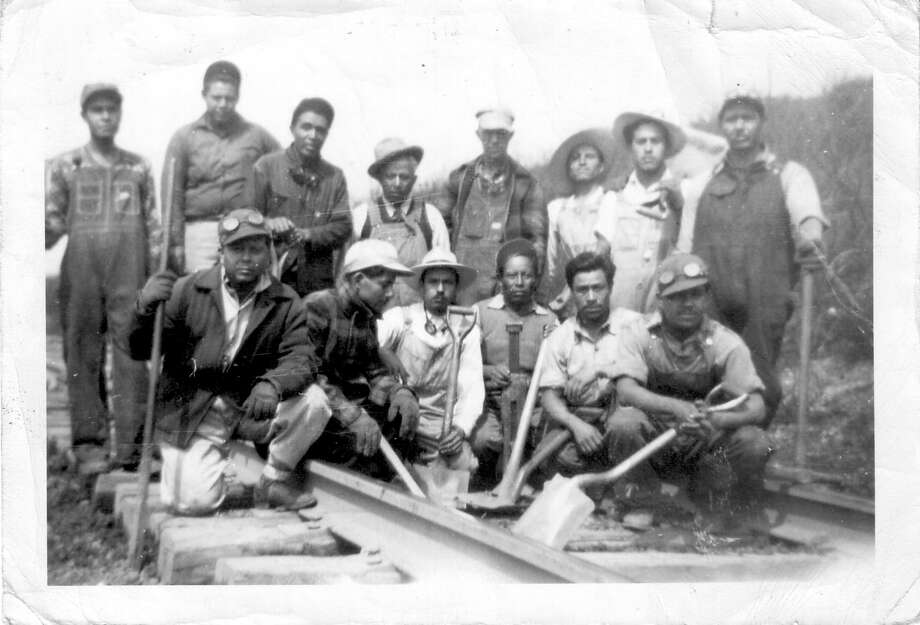 """""""Bittersweet Harvest,"""" a bilingual exhibition from the Smithsonian at the Holocaust Museum of Houston in 2016, explored the little-known story of the Bracero Program. It begat what came to be known as """"Operation Wetback,"""" a massive deportation program that victimized U.S. citizens as well. Photo: Leonard Nadel /Photo By Leonard Nadel, 1956 Courtesy Smithsonian's National Museum Of American History"""