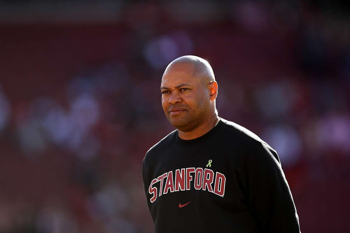 PALO ALTO, CA - AUGUST 31: Head coach David Shaw of the Stanford Cardinal stands on the field before their game against the San Diego State Aztecs at Stanford Stadium on August 31, 2018 in Palo Alto, California. (Photo by Ezra Shaw/Getty Images)