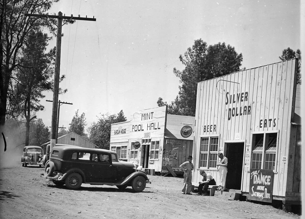 The Silver Dollar and the Mint Pool Hall were some of the earliest buildings that spring up at one of the Boomtowns that were near the construction site of the Shasta Dam, July 28, 1938 Associated press Photo